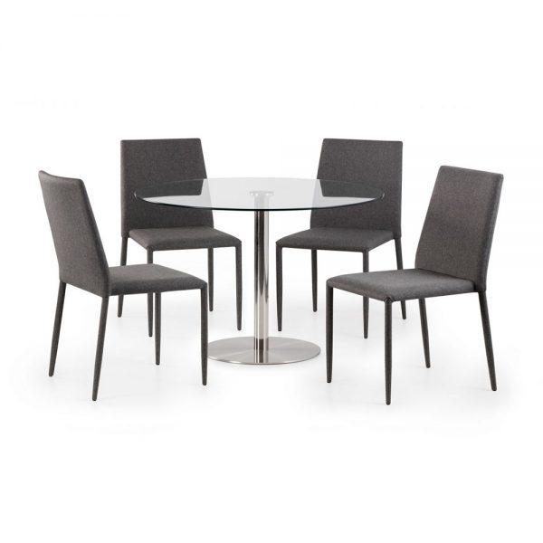 glass round dining table set chairs grey furniture sale belfast uk ni ireland
