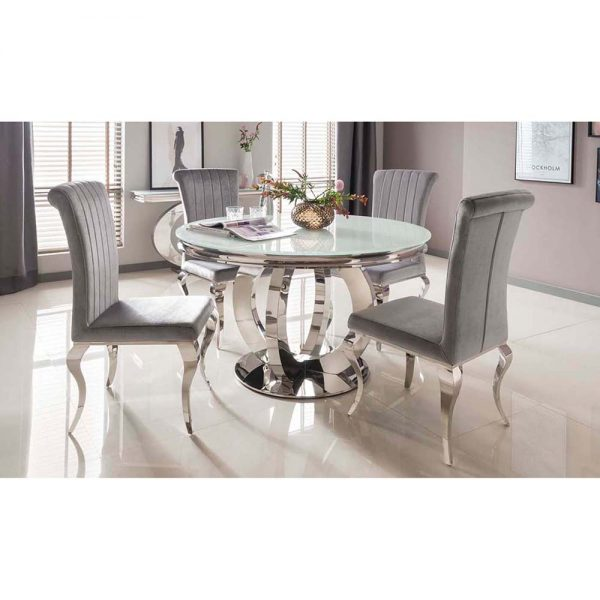 white metal glass dining table belfast sale uk ni