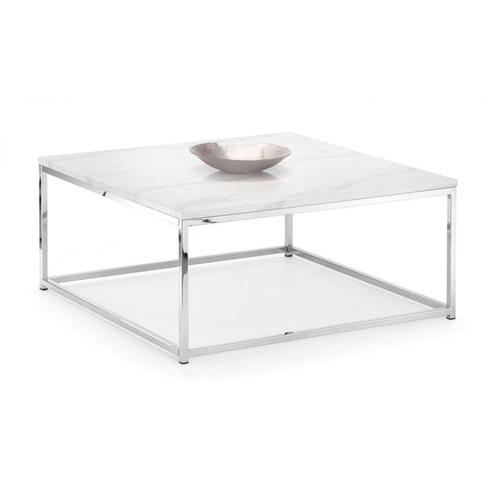 White Marble Coffee Table.Sasha Coffee Table White