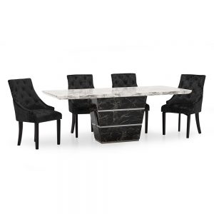 marble dining table uk ni ireland belfast black grey silver