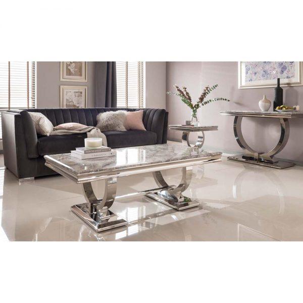coffee table grey marble gloss dining furniture belfast iireland england uk