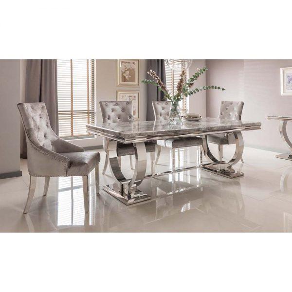 grey marble gloss metal dining table uk ni ireland