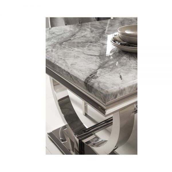 grey marble gloss dining table metal belfast furniture dining uk n i ireland