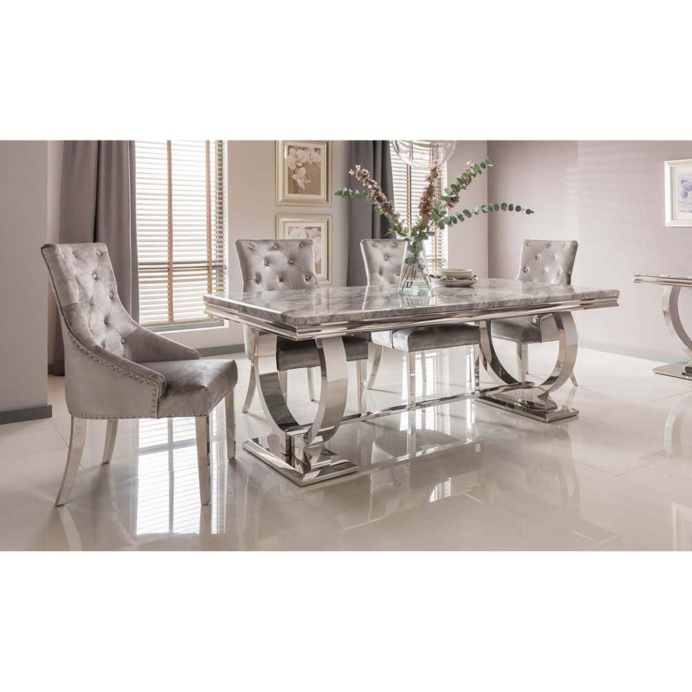 Arianna Dining Set Grey +9 Belvedere Chairs