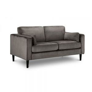 grey velvet 2 seater sofa furniture belfast sale uk nii reland