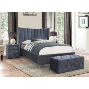 grey fabric glamorous high quality bedstead furniture bed belfast uk ireland