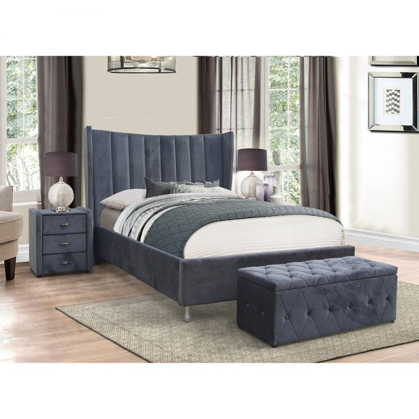 grey fabric glamorous high quality bedstead furniture bed belfast uk ireland