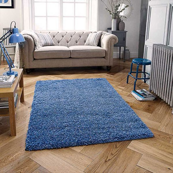 blue denim fluffy rug rugs floor carpet belfast uk ni ireland shop home furniture