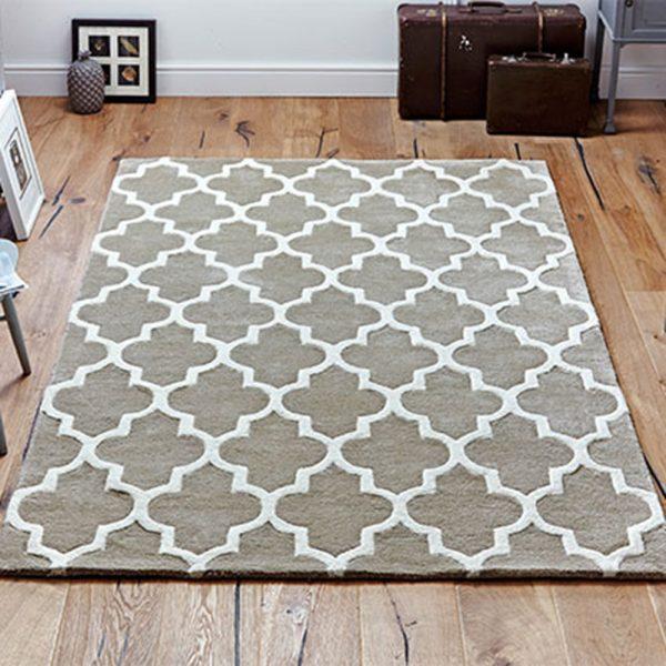 beige pattern geometric white rug carpet floor belfast uk ni ireland england scotland shop sale