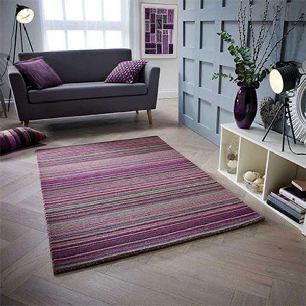 berry purple rug stripe floor carpet shop home uk ni ireland belfast