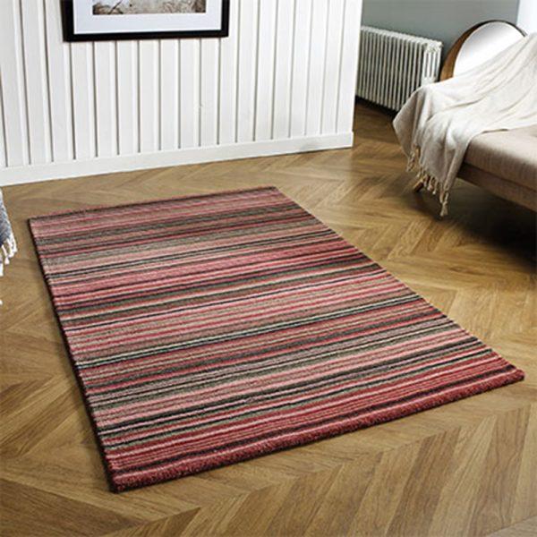 pink stripe rug floor capet belfast shop home ni ireland uk