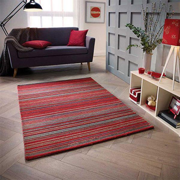 red stripee rug carpet floor belfast shop home uk ireland