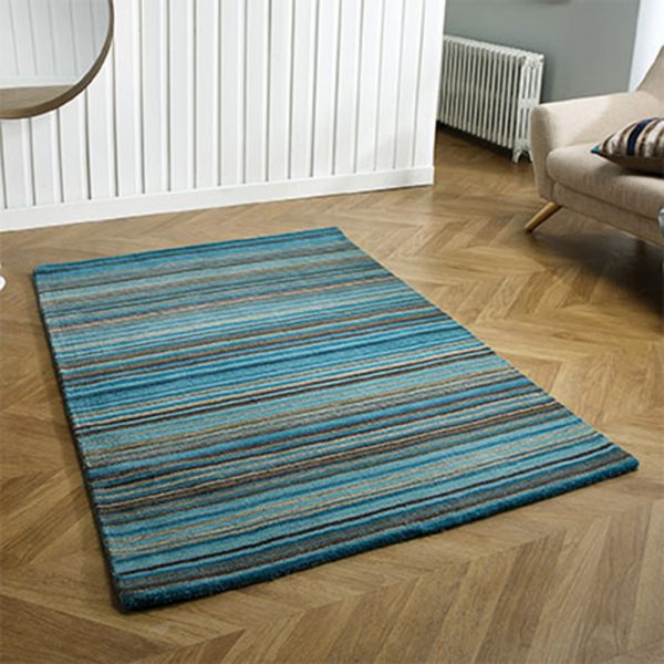 carter blue teal rug stripe uk belfast carpet floor uk ni ireland