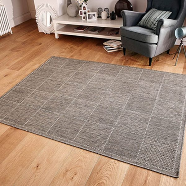 grey checked flat weave greek rug rugs floor home shop furniture carpet belfast ni ireland uk