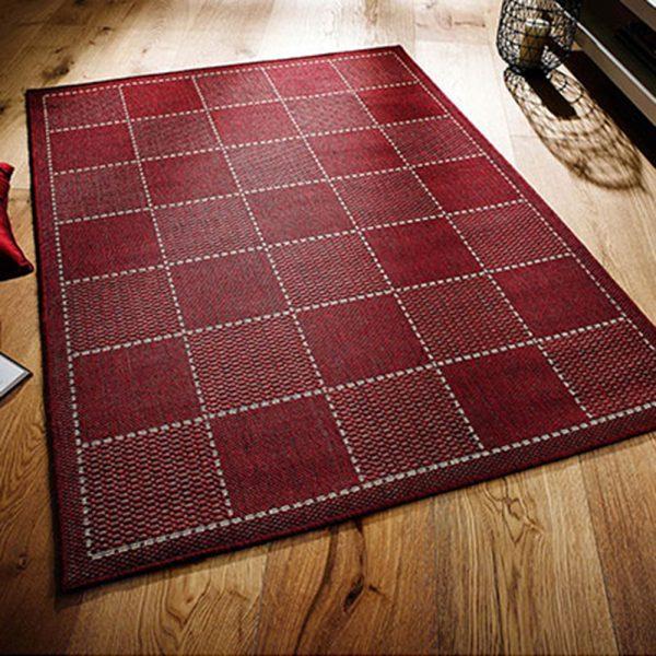 red checked rug rugs greek flat weave carpet floor home funriture uk belfast shop ni ireland