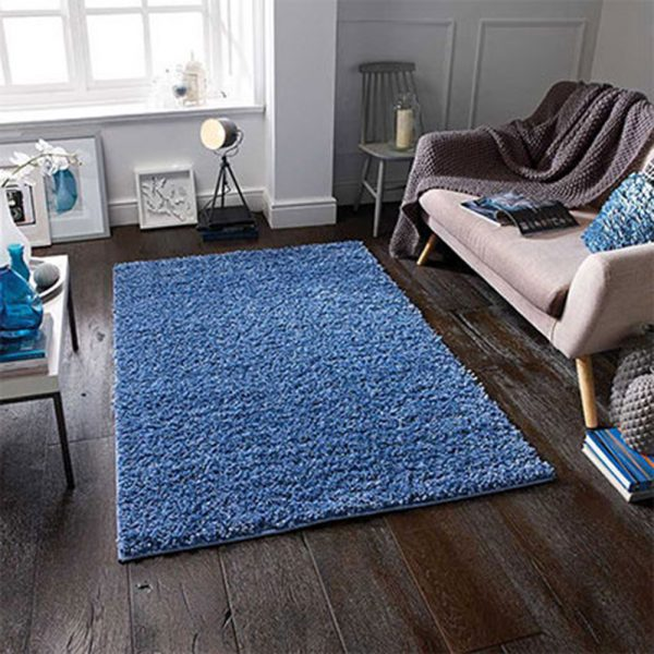 blue rug fluffy rugs belfast uk ni ireland shop floor carpet home furniture