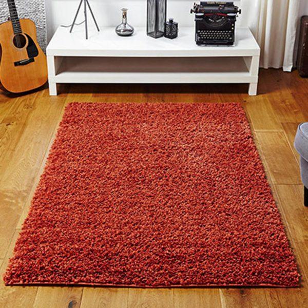 orange fluffy rug belfast rugs carpet floor uk ireland