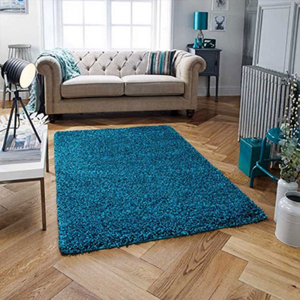 fluffy teal blue green rug rugs floor carpet belfast uk ni ireland belfast