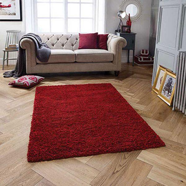 ruby red fluffy rug rugs belfast floor flooring carpet uk ni ireland