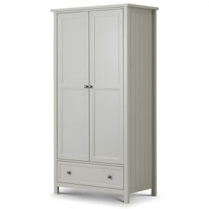 2 door combination dove grey wardrobe bedroom furniture shop home uk ireland ni bellfast