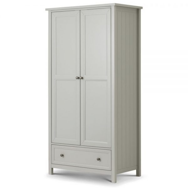 2 door combination dove grey wardrobe bedroom furniture shop home uk ireland ni bellfast
