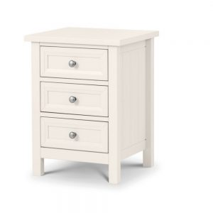 3 drawer bedside white cream bedroom furniture shop home belfast uk ni ireland