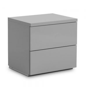 grey gloss high bedroom furniture bedside table shop home belfast uk ni ireland