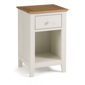 2 tone white cream oak bedside cabinet bedroom furniture home shop belfast uk ni ireland
