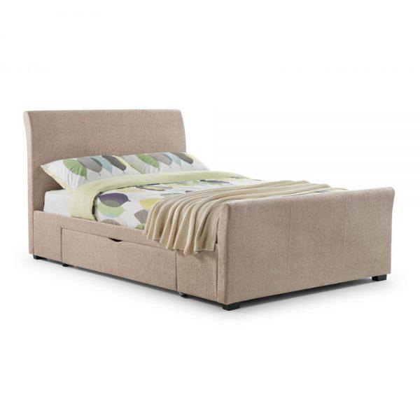mink chenille fabric bed bedstead uk ni ireland belfast shop home beds bed bedroom furniture uk ni ireland belfast