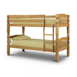 bunk bed oak pine wood chunky thick sturdy bed bedroom children child kids teens shop home decor furijture uk ni ireland belfast