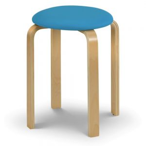 blue wood stool fabric furniture shop home decor uk ni ireland belfast