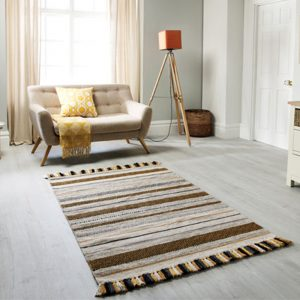 stripe ocher beige rug ni ireland uk