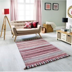 pink stripe rug uk