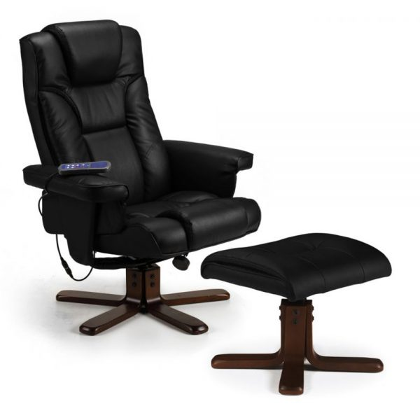 massage recliner chair black faux leather fabric cheap sale uk ni ireland belfast shop home furniture relax