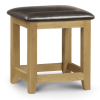 oak brown faux leather stool dressing table shop home decor bedroom dining furniture belfast uk ni ireland