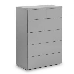 grey gloss 4 2 drawer chest bedroom furniture belfast shop home ni ireland uk