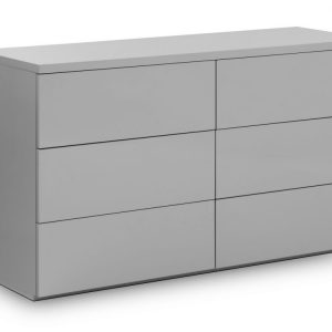 6 drawer chest grey gloss bedroom furniture uk ni ireland belfast shop home