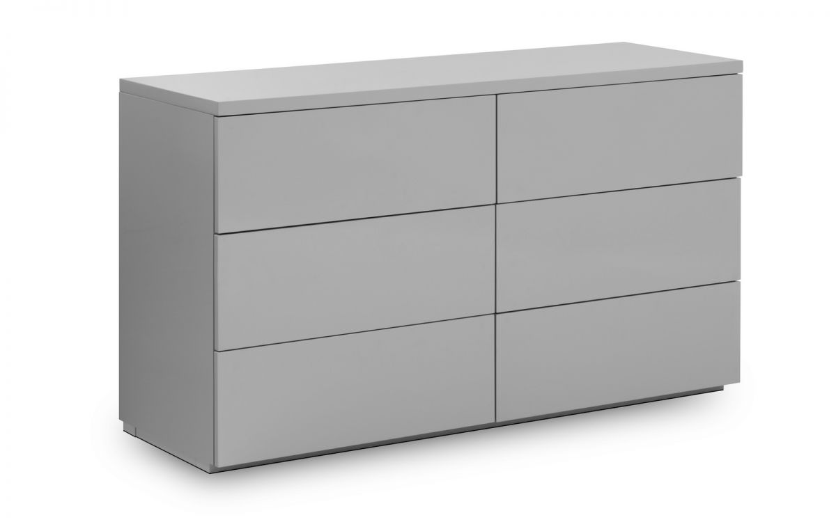 the best attitude fdcd5 e2d5a Monaco 6 Drawer Wide Chest Grey Gloss