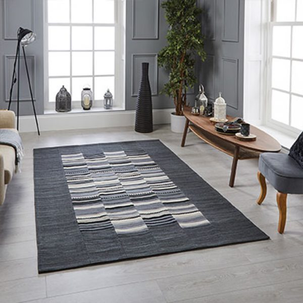 stripe grey rugs