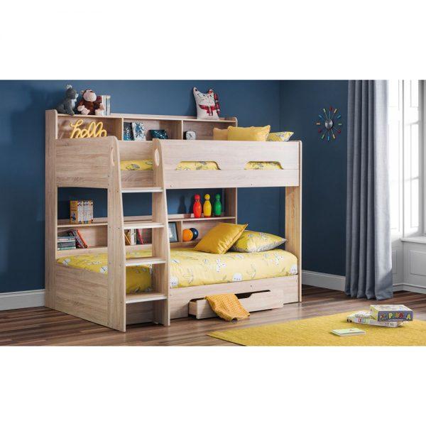bunk beds kids oak sonoma teens uk ni ireland belfast shop beds furniture bedroom