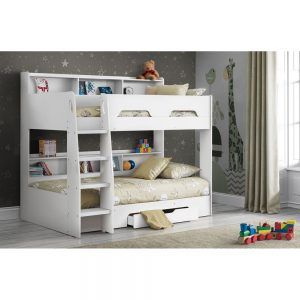 white kids teens bunk bed shop home beds bedroom furniture uk ni ireland belfast