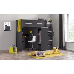 higher sleeper charocal black bunk beds kids bedroom uk ni ireland belfast furniture