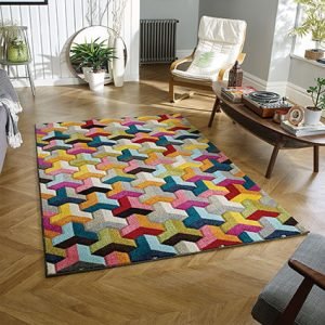 colour geometric rugs pattern