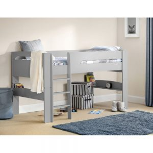 midsleeper bunk beds dove grey silver kids child children uk ni ireland furniture shop home belfast