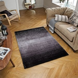 charcoal fade ombre rug