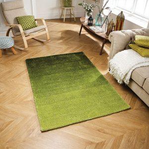 green fade ombre rug
