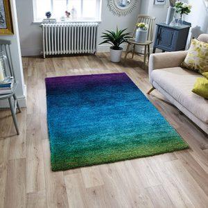 multi rug ombre fade colours