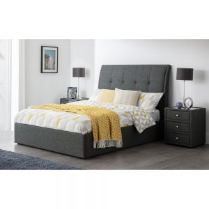 grey fabric bed bedstead shop home furniture uk ni ireland belfast shop home furniture ni