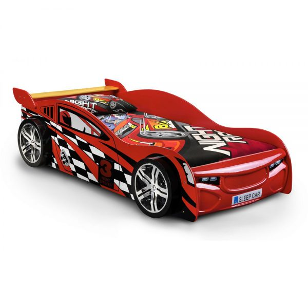 racer bed kids children red car beds uk ni ireland shop home bedroom furniture belfast