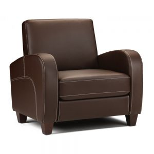 faux leather chestnut brown arm chair furniture belfast shop sofas uk ni ireland